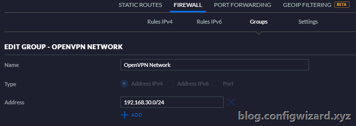 OpenVPN Network Group